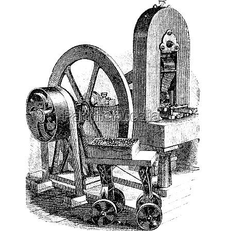 hit machine vintage engraving