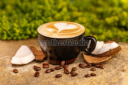 cup of tasty coconut coffee