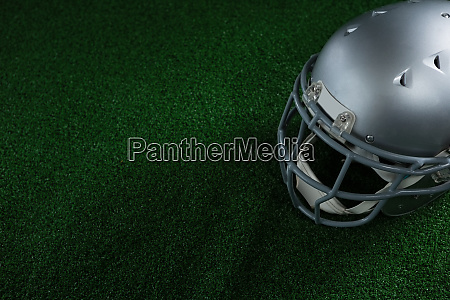 american football head gear lying on