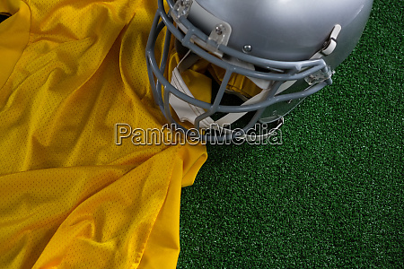 american football head gear and jersey