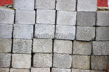 pile of concrete blocks