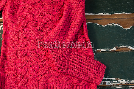 directly above shot of sweater