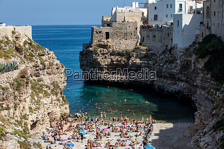 people relax and swimming on lovely