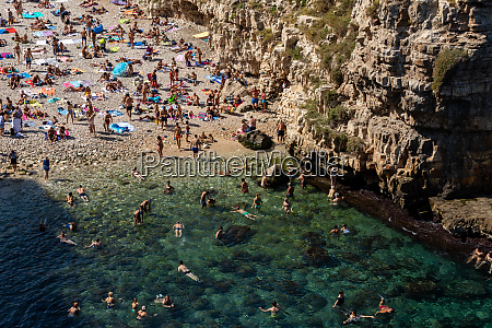 people relax and swimming on