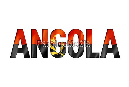 angolan flag text font