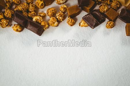 high angle view of chocolates