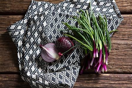 onions on napkin