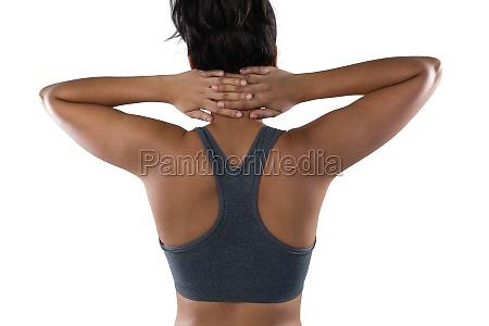 female athlete exercising
