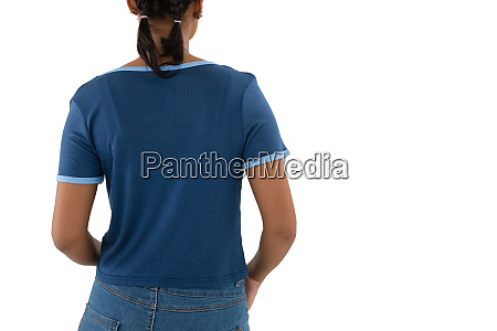 rear view of woman in casual