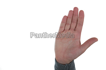 hand gesture against white background