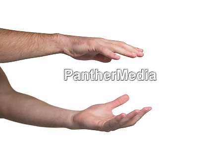 hand pretending to hold an invisible