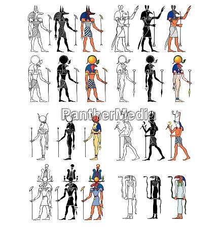 gods and goddness of ancient egypt