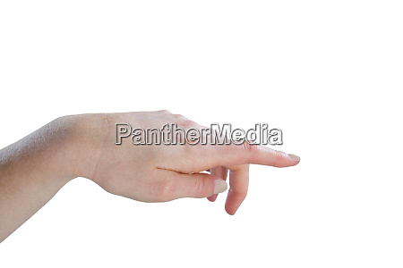 cropped image of hand gesturing
