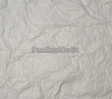 empty gray crumpled sheet of paper