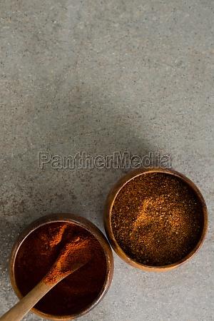 cinnamon powder and red chili powder
