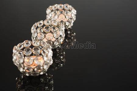 decorative designer handcraft candles in a