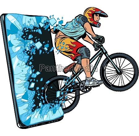 sports online news concept athlete cyclist