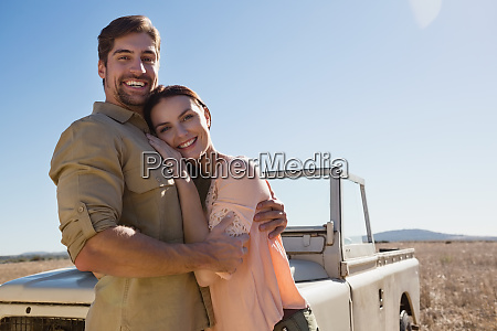 portrait of happy young couple by