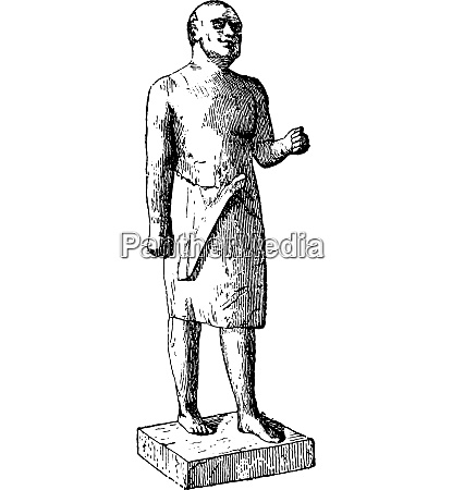 egyptian statue of the former empire