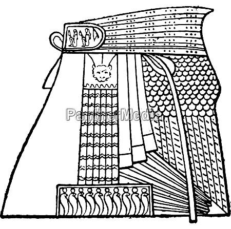 egyptian apron vintage engraving
