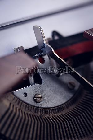 high angle view of typebar