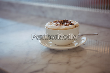 coffee cup on counter