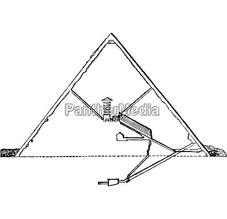 section of the great pyramid vintage
