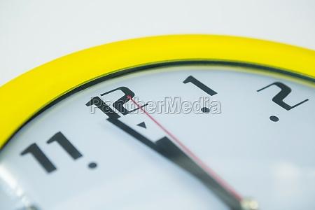 clock hands reaching 12 o clock