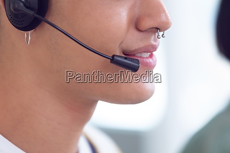 male customer service executives working on