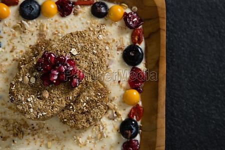healthy breakfast in tray