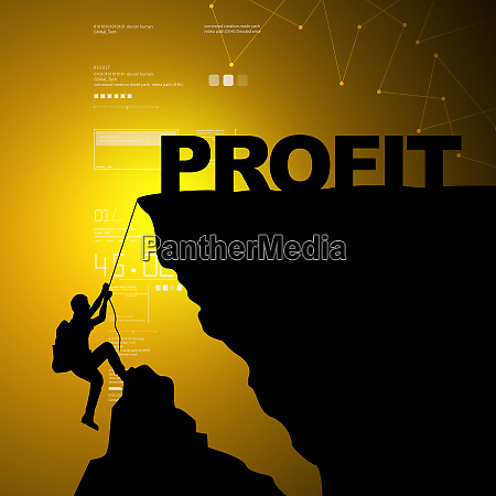 man climbing for profit