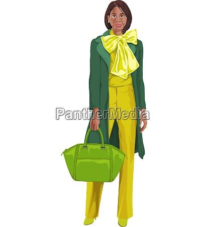 vector of woman with handbag