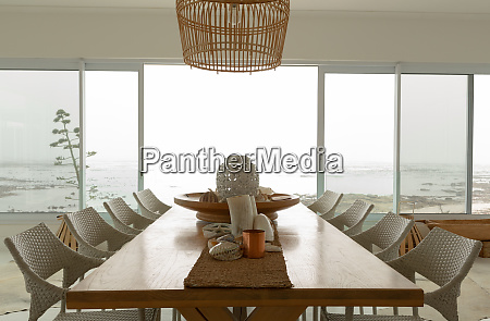 dining room with dining table at