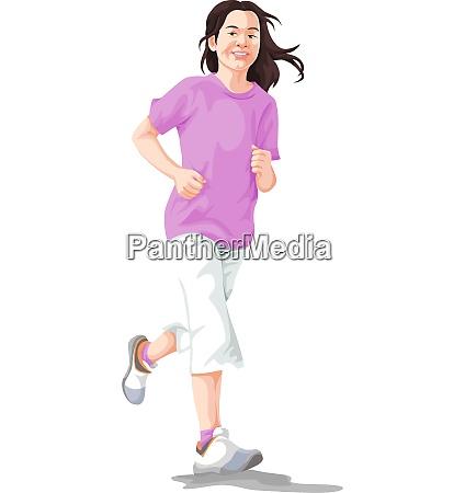 vector of woman jogging
