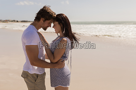 romantic happy young couple head to
