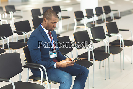 african american male executive sat in