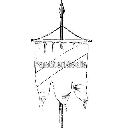 the banner vintage engraving