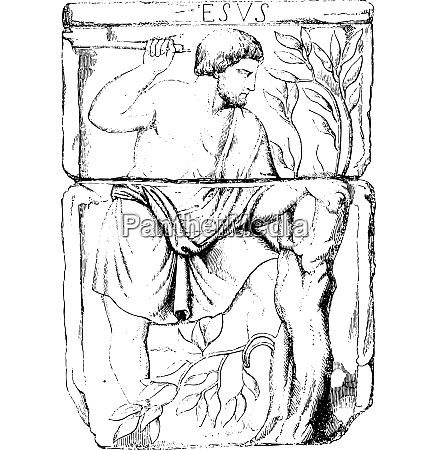 figures depicted on the fourth altar