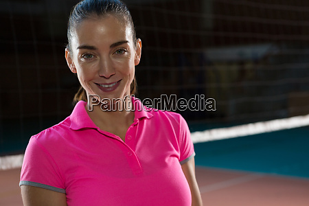 portrait of confident volleyball player by