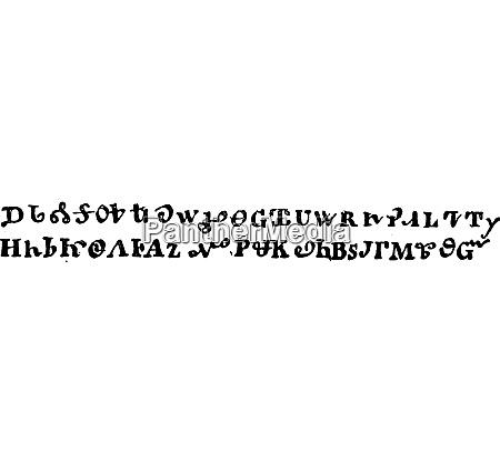 cherokee writing vintage engraving