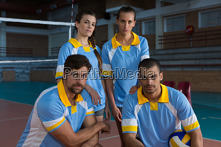 portrait of confident volleyball players