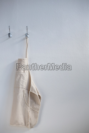 apron hanging on hook