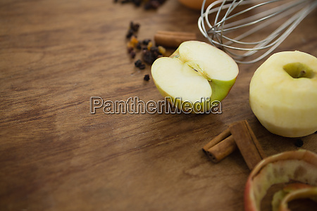close up of granny smith apple