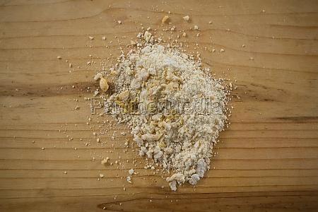 close up of flour