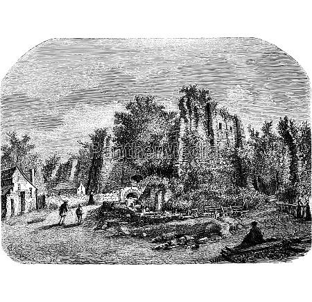 chateau of sainte suzanne interior view