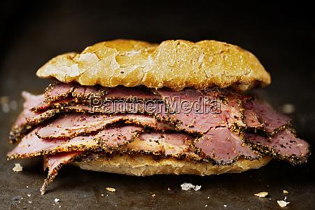 rustic roast beef sandwich