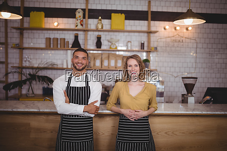 portrait of smiling young wait staff