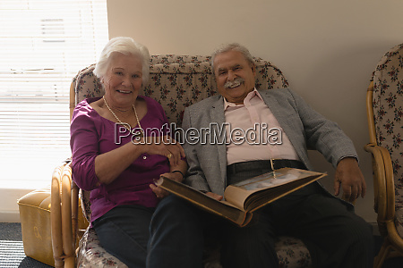 front view of senior couple with