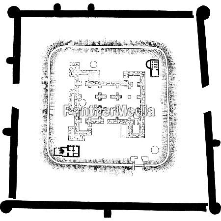 map of castrum jublains mayenne vintage