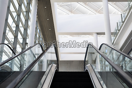 escalator in the modern office